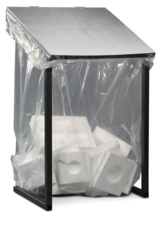 Großvolumen-Wertstoffsammler MEGA, 1.000 L, mit Deckel, passend für Seitenfaltenbeutel, Breite 730