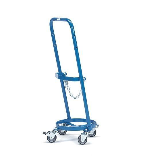 Gasflaschenroller für Propangas 80 kg Tragkraft, 11 kg Inhalt, Kettensicherung, TPE-Bereifung
