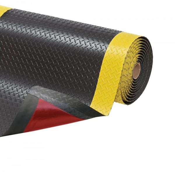 Anti-Ermüdungsmatte Trax, 1520 mm x lfd. Meter; schwarz-gelb