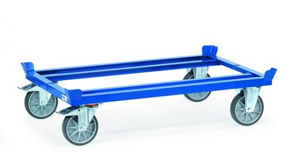 Paletten-Fahrgestelle 500 kg Tragkraft, 1200x810 mm, TPE-Bereifung