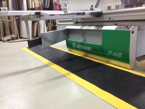 Arbeitsplatzmatte Diamond Deckplate mit gelben Rand, 900 mm x 18,3 Meter