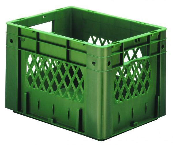 Schwerlast-Stapelkästen grün VTK 400/270-1 (PP), Wände durchbrochen Boden geschlossen, VE = 4 Stück