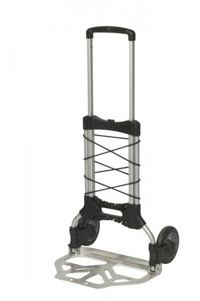 Alu-Stapelkarre ausziehbar, klappbare Schaufel 490x320 mm, 125 kg Tragkraft