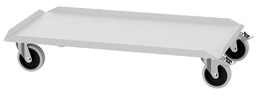 Rolluntersatz für Flügeltürschrank 1000x500x1000 mm, 4 Lenkrollen, 2 x mit Feststeller