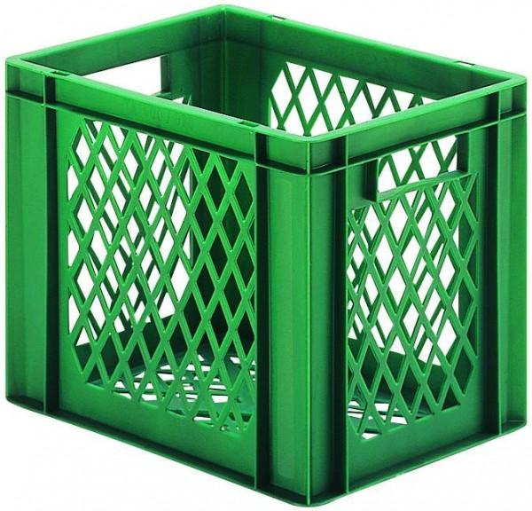 Stapelkästen Höhe 320 mm grün, TK 400, Wände und Boden durchbrochen, 4 Stück