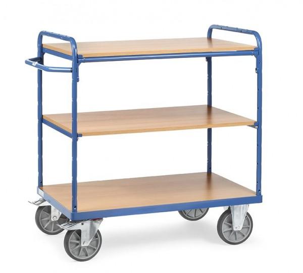 Etagenwagen mit 3 Böden 500 kg Tragkraft, 850x500 mm