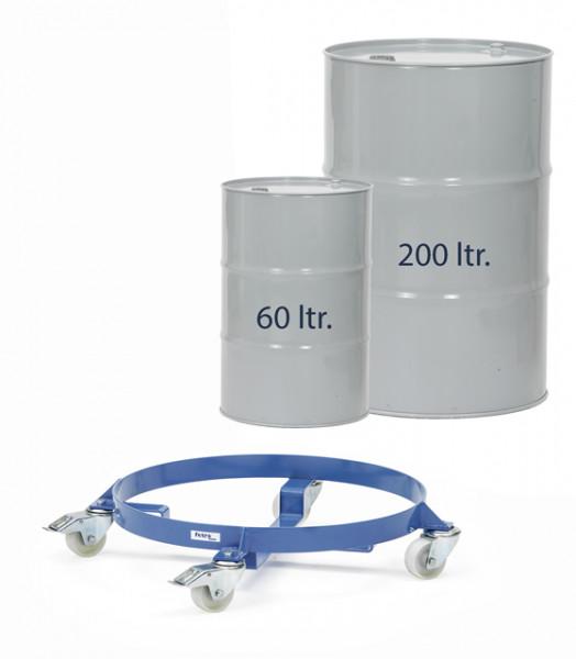 Fassroller 250 kg Tragkraft, 60 und 200 Liter Fässer, Ø 420/610 mm, Lenkrollen