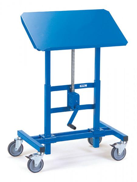 Materialständer 3285, 750x450 mm Ladefläche neigbar, fahrbar,250 kg Tragkraft, höhenverstellbar