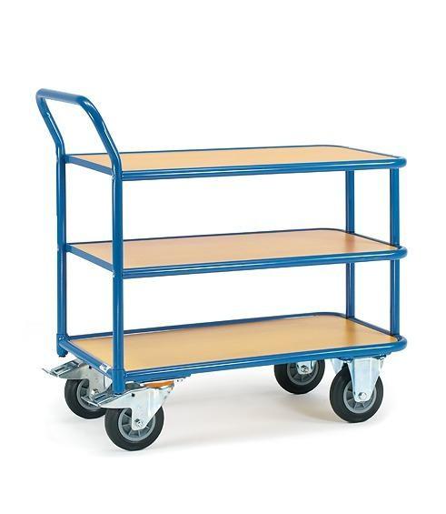 Tisch- und Magazinwagen 400 kg Tragkraft, 1000 x 700 mm