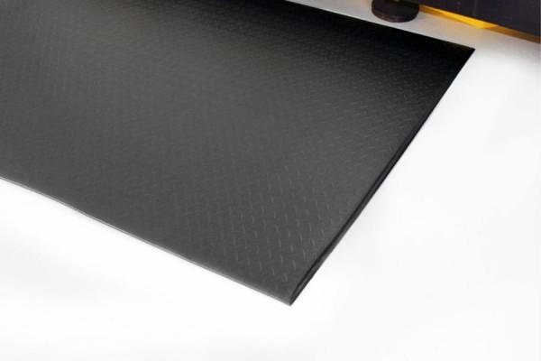 Arbeitsplatzmatte Orthomat® Diamond, schwarz 1200 mm x 18,3 Meter