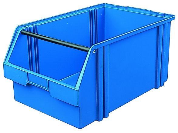 Sichtlagerkästen LK 1a blau 500x300x230 mm, aus Polystyrol (PS), stapelbar, VE = 8 Stück