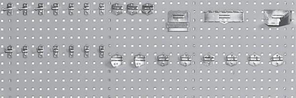Lochplatte für Werkbänke, Breite 2000 mm, Höhe 450 mm