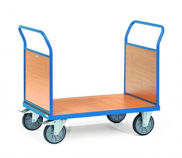 Plattformwagen 1200x800 mm, 600 kg Tragkraft, Holzwände, EURO-Format