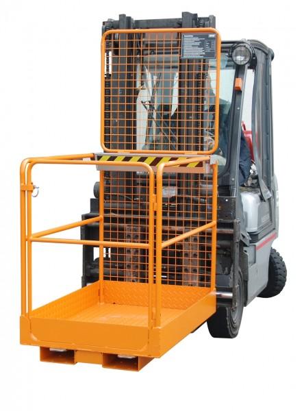 Sicherheitskorb, schmal für Stapler für 1-2 Personen, 300 kg Tragkraft