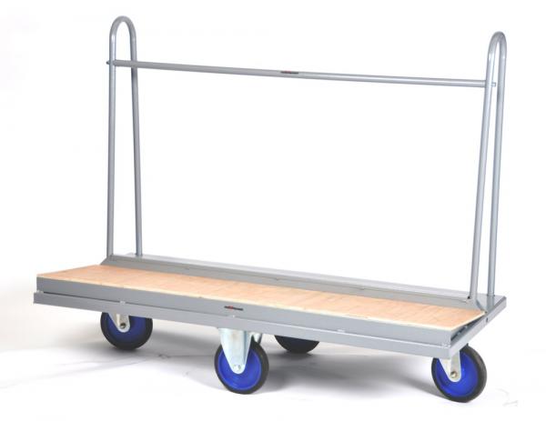 Markisen Transportwagen 500 kg Tragkraft, sehr wendig durch 2 bewegliche Lenkrollen, 1500x385 mm
