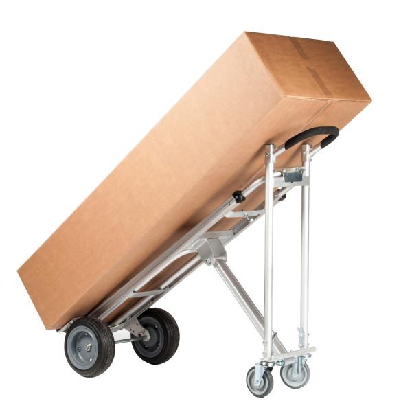 Profi-Transportkarren für sperrige Güter, 227 - 340 kg Tragkraft, Höhe 1560, Aluminium, Luftreifen