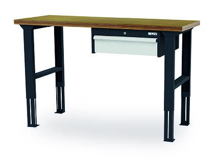 Arbeitstisch 2000x600x760-1060 mm, 1 Schublade, höhenverstellbar, 200 kg Tragkraft
