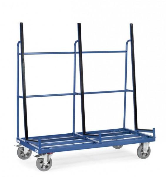 Glaswagen 2076x430 mm, 1200 kg Tragkraft, einseitige Anlage, Profilgummi-Auflage