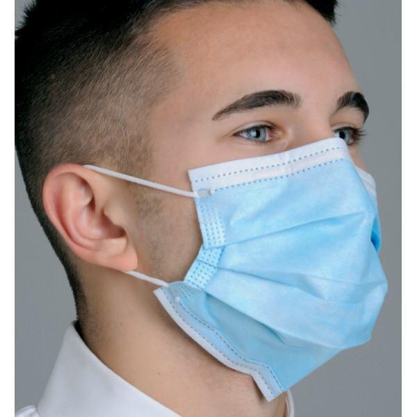 100 Stück Mund - Nasenmasken - 3-lagig, medizinisches Vliesmaterial, elastische Ohrbänder