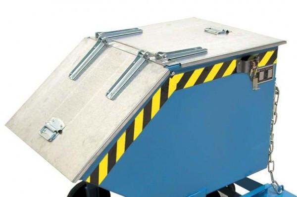 Deckel für Späne-Kippbehälter SKW 400 Liter, zweiseitig zu öffnen