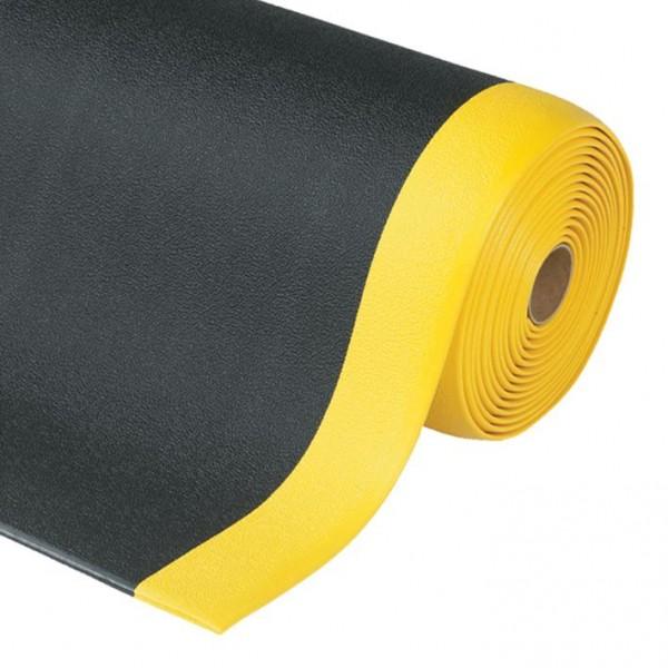 Anti-Ermüdungsmatte Sof-Tred, 910 mm x 18,3 Meter, Rolle, schwarz-gelb