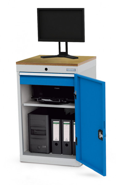 Computerschrank mit Arbeitsplatte für Monitor, 530x500x850 mm