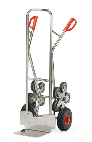 Alu - Treppenkarren 200 kg Tragkraft, 320x250mm Schaufel, 5-armiger Radstern