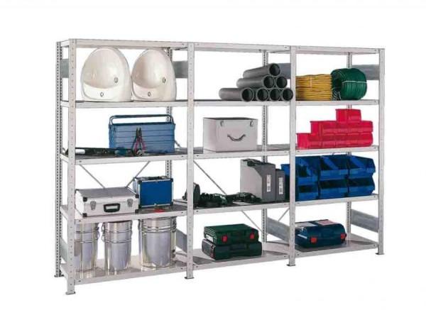 Fachbodenregal, verzinkt 2000x1000 mm, als Grund- und Anbauregale in 3 Tiefen lieferbar, 230 kg Fach