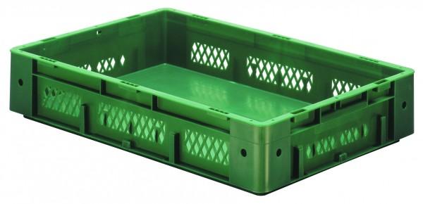 Schwerlast-Stapelkästen grün VTK 600/120-1 (PP), Wände durchbrochen Boden geschlossen, VE = 2 Stück