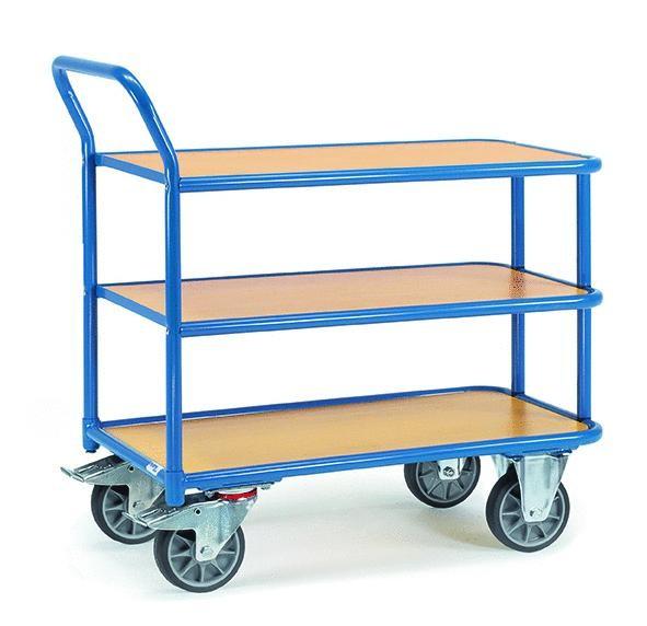 Tischwagen 400 kg Tragkraft, 3 Etagen, 850x500 mm