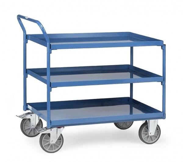 Tischwagen mit 3 Wannen 400 kg Tragkraft, 850x500 mm