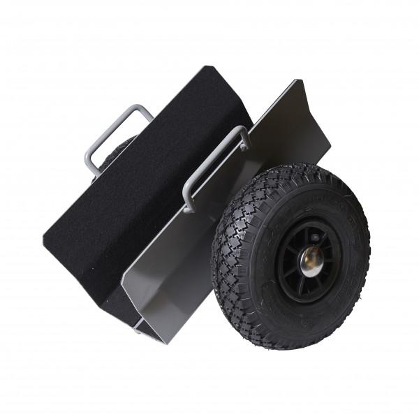 Plattenroller 170 mm , Luft-Reifen, 300 kg Tragkraft, 390x410x350 mm