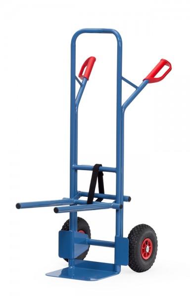 Stuhlkarren Vollgummi, 300 kg Tragkraft, 320x250 mm Schaufel, Tragegestell einhängbar
