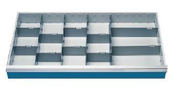 Schubladeneinsatz Höhe 100 mm, Breite 980 mm, Nutzmaß 900x400 mm