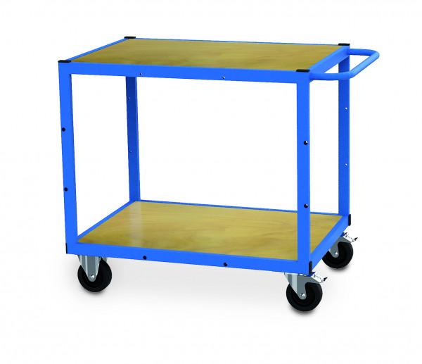Mobile Werkbank 900x620x860 mm, 300 kg Tragkraft, 2 Holzfachböden, fahrbar
