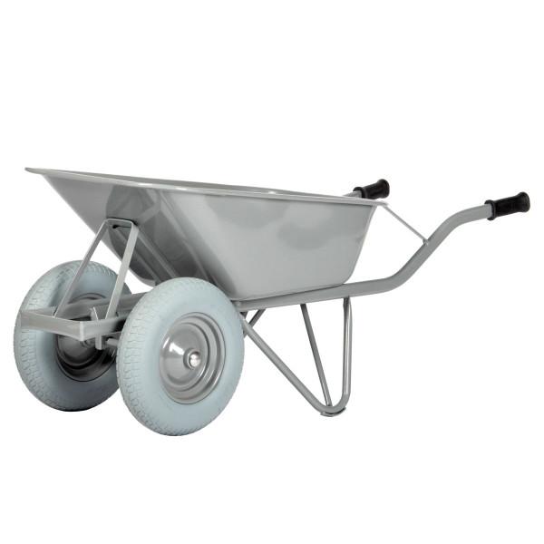 Straßenbaukarre - Schubkarre, 80 ltr. pannensichere Doppel-Reifen
