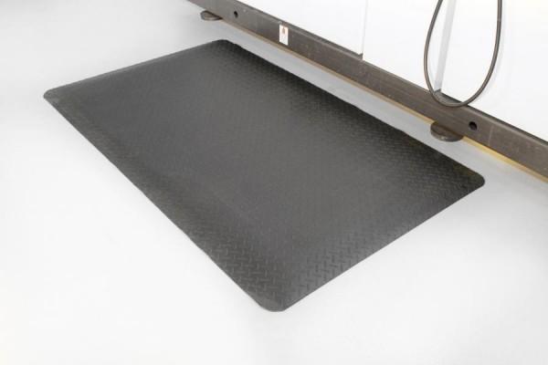 Arbeitsplatzmatte Diamond Deckplate, schwarz, 900 mm x lfd. Meter