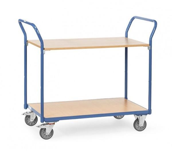 Tischwagen 200 kg Tragkraft, 1000x600 mm, 2 Etagen