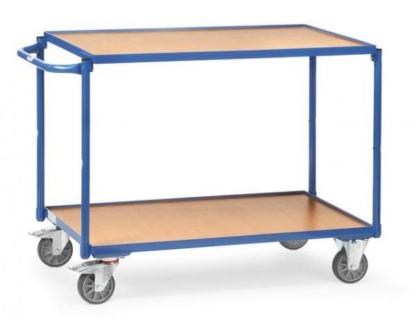 Tischwagen 850x500 mm, 300 kg Tragkraft, Holzplattformen