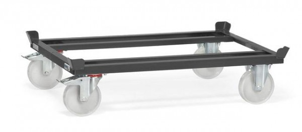 Paletten-Fahrgestelle anthrazit 1050 kg Tragkraft, 1200x800 mm, Polyamid