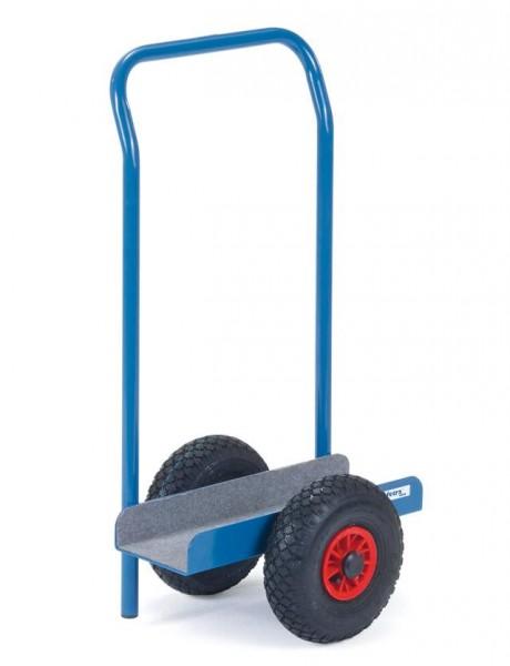 Plattenroller U-Form 500x150 mm mit Schiebebügel, Vollgummi-Reifen, 500 kg Tragkraft