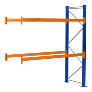 Paletten-Anbauregal 9 Stellplätze, 2700 x 1100 x 2730 mm, 3 Lagerebenen, 2000 kg Tragkraft Ebene