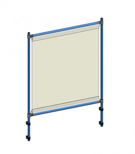 Infektionsschutzrahmen 1066x49x1410 mm, Anbausatz, PVC Klarsichtfolie glasklar