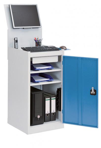 Computerschrank für PC, Monitorwand, Tastaturablage, 500x500x1575 mm,