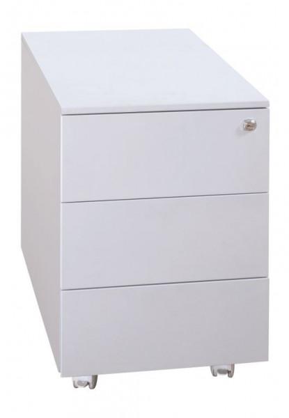 Metall-Rollcontainer 3 Schubladen, 400x600x610 mm, lichtgrau, fahrbar