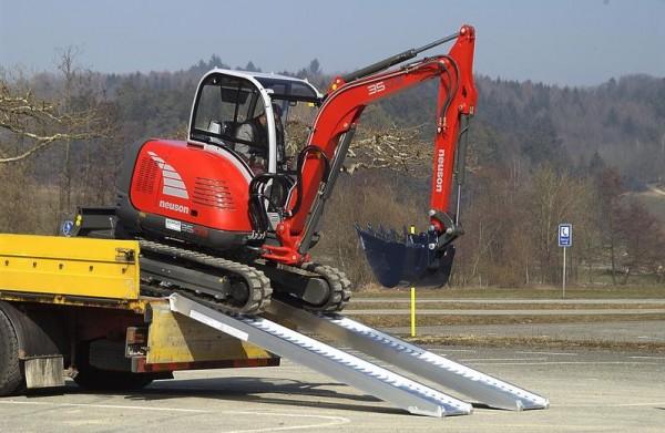 Schwerlastrampen mit Rand, Tragkraft/Paar 5150 kg, Breite 405 mm, Länge 2510 mm