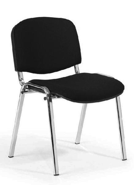 Besucherstühle, Set 4 Stühle, schwarz / silber