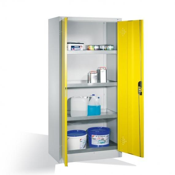 Universal-Stahl-Flügeltürenschrank für Umwelt, Lager und Werkstatt zur Lagerung von Kleingebinden