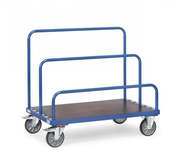 Plattenwagen 3 Bügel, 1200x800 mm, 750 kg Tragkraft, Einsteckbügel 300 / 600 / 900 mm hoch