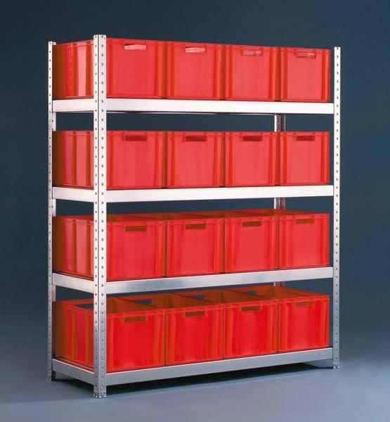 Weitspannregal - Lagerregal, verzinkt 500 kg Tragkraft pro Ebene (Komplettregal 41.87006)